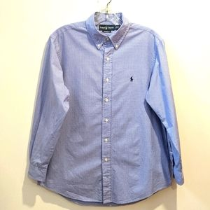 Ralph Lauren 100% cotton button down shirt 16 1/2